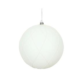"""Noelle Ball Ornament 4.75"""" Set of 4 White"""