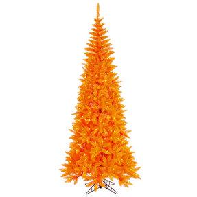 7.5' Orange Fir Slim w/ LED Lights