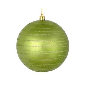 "Orb Ball Ornament 4"" Set of 4 Celadon"