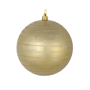 "Orb Ball Ornament 6"" Set of 3 Champagne"