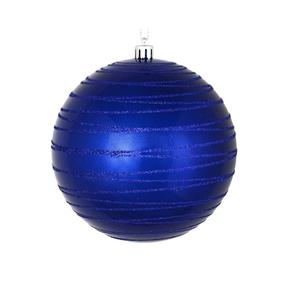 "Orb Ball Ornament 4"" Set of 4 Cobalt"