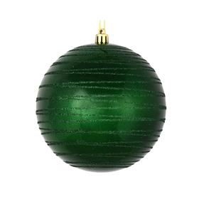 "Orb Ball Ornament 4"" Set of 4 Emerald"