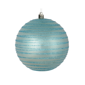 """Orb Ball Ornament 4"""" Set of 4 Ice Blue"""