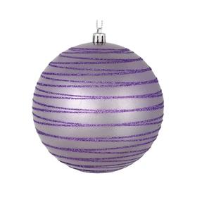 "Orb Ball Ornament 4"" Set of 4 Lavendar"