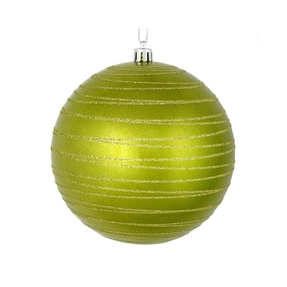 "Orb Ball Ornament 4"" Set of 4 Lime"