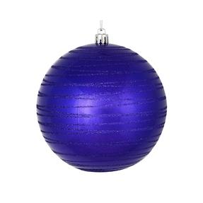 "Orb Ball Ornament 4"" Set of 4 Purple"