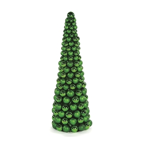 5' Ornament Cone Tree Green