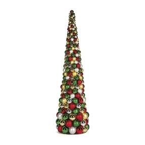10' Ornament Cone Tree Multi
