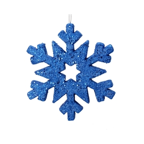 "Outdoor Glitter Snowflake 12"" Blue"