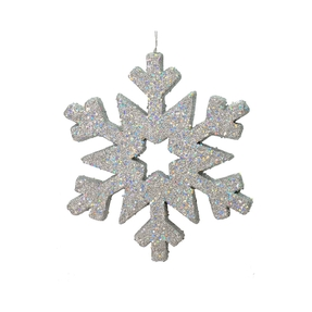 "Outdoor Glitter Snowflake 12"" Silver"