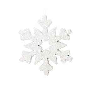 "Outdoor Glitter Snowflake 12"" White"