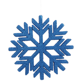 "Outdoor Diamond Snowflake 18"" Blue"