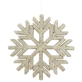 "Outdoor Diamond Snowflake 18"" Champagne"