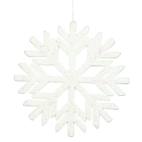 "Outdoor Diamond Snowflake 18"" White"