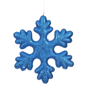 "Outdoor Fancy Snowflake 11"" Set of 2 Blue"