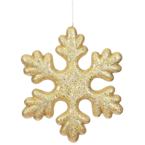 "Outdoor Fancy Snowflake 11"" Set of 2 Gold"