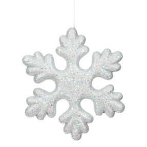 "Outdoor Fancy Snowflake 15"" Set of 2 Silver"