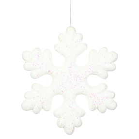 "Outdoor Fancy Snowflake 15"" Set of 2 White"