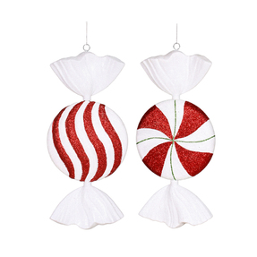 "Peppermint Candy Duo 13"" Set of 2 Asst."
