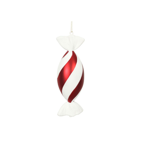 "Peppermint Swirl Candy Ornament 12"" Set of 2"