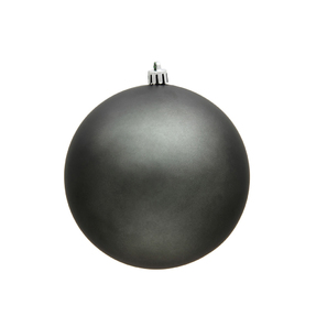 "Pewter Ball Ornaments 6"" Matte Set of 4"