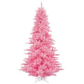 3' Pink Fir Full w/ LED Lights