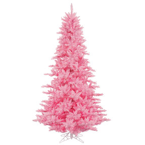 5.5' Pink Fir Full w/ LED Lights
