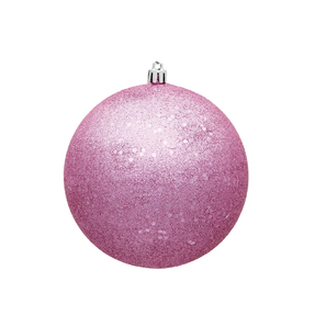 "Pink Ball Ornaments 6"" Sequin Set of 4"