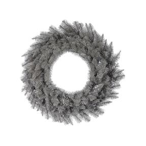 4' Platinum Wreath Unlit