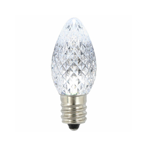 LED C7 Twinkle 25 Replacement Bulbs Set Pure White