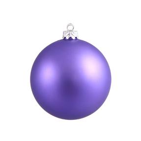 "Purple Ball Ornaments 12"" Matte Set of 2"