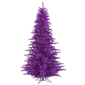 3' Purple Fir Full w/ LED Lights