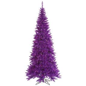 9' Purple Fir Slim w/ LED Lights