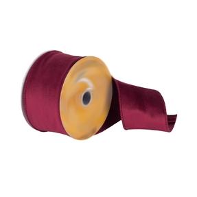 "Soft Dupioni Ribbon 2.5"" Burgundy"