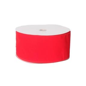 """Outdoor Velvet Ribbon 4"""" Red"""