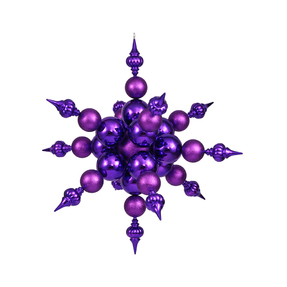 "Shiny Radical Snowflake 39"" Purple"