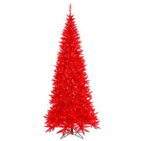4.5' Red Fir Slim w/ LED Lights