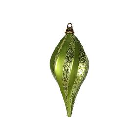 "Retro Glitter Drop 8"" Set of 2 Lime"