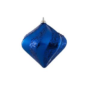 "Retro Glitter Diamond 6"" Set of 2 Blue"
