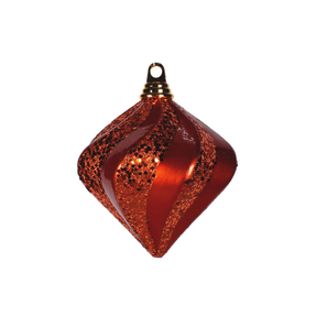"Retro Glitter Diamond 6"" Set of 2 Burnished Orange"