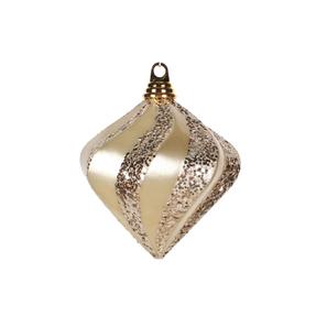 """Retro Glitter Diamond 6"""" Set of 2 Champagne"""