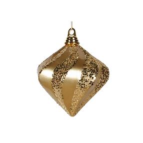 "Retro Glitter Diamond 6"" Set of 2 Gold"