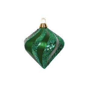 "Retro Glitter Diamond 6"" Set of 2 Green"