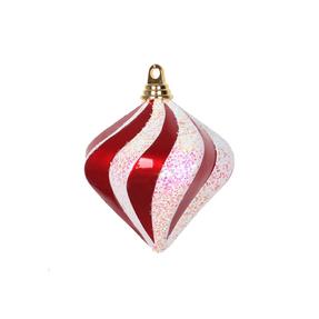 "Retro Glitter Diamond 6"" Set of 2 Peppermint"