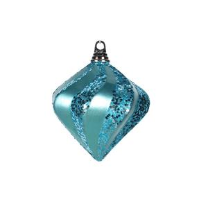 "Retro Glitter Diamond 6"" Set of 2 Turquoise"