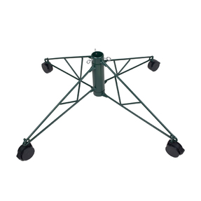 Rolling Metal Tree Stand Green 9.5'-12'