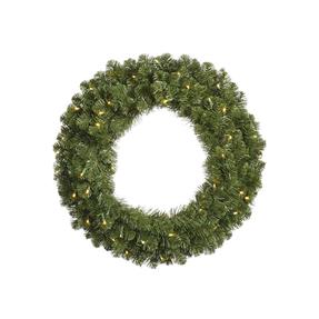 4' Sequoia Wreath w/ Clear Lights