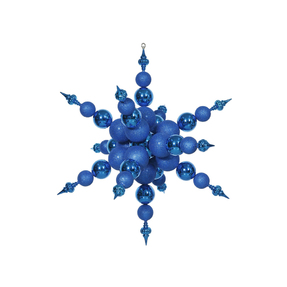 "Belle Giant Snowflake 39"" Blue"