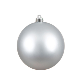 "Silver Ball Ornaments 12"" Matte Set of 2"