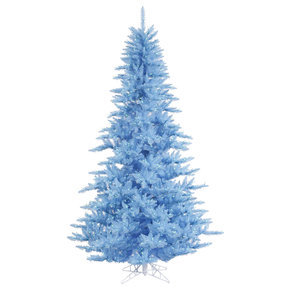 3' Sky Blue Fir Full w/ LED Lights